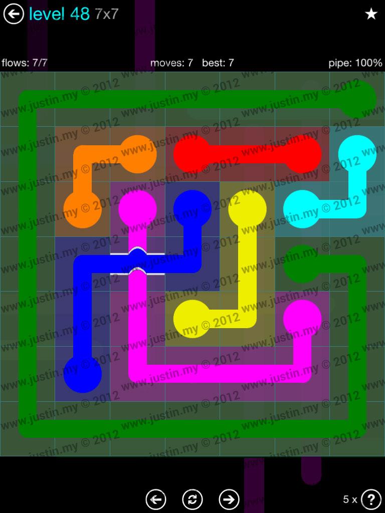 Flow Bridges 7x7 Mania  Level 48