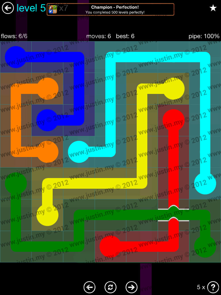 Flow Bridges 7x7 Mania  Level 51