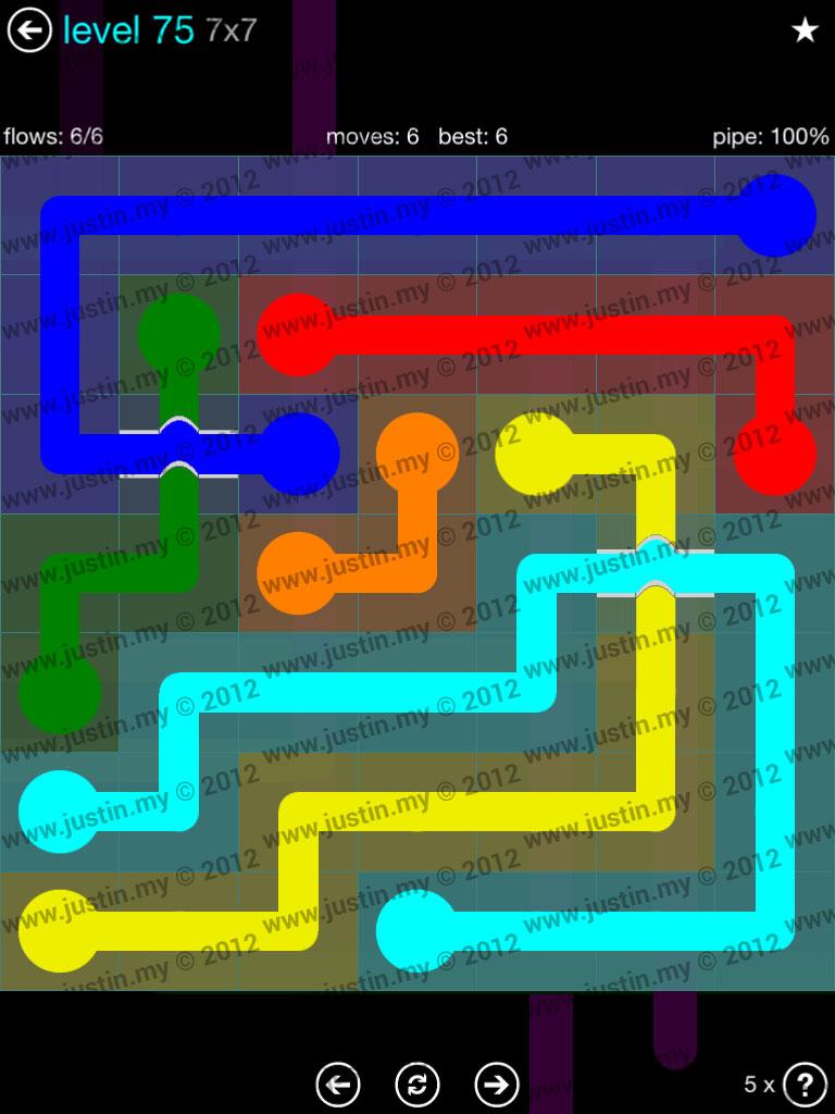 Flow Bridges 7x7 Mania  Level 75