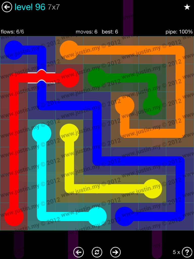 Flow Bridges 7x7 Mania  Level 96
