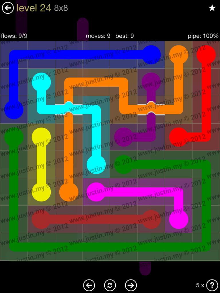Flow Bridges 8x8 Mania Level 24