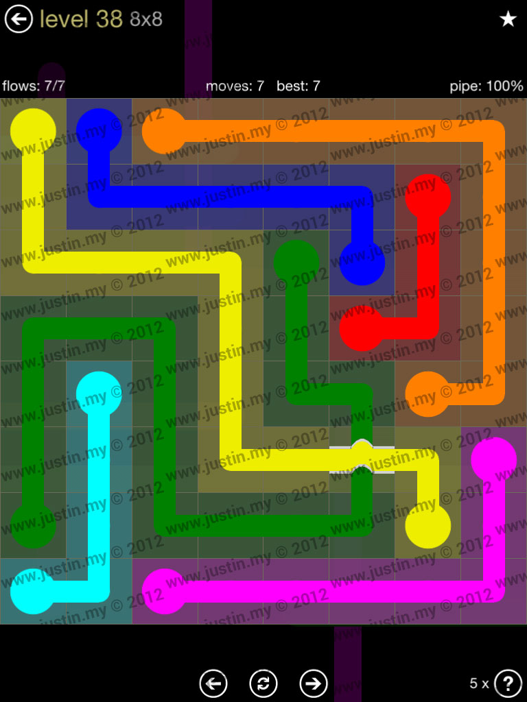 Flow Bridges 8x8 Mania Level 38