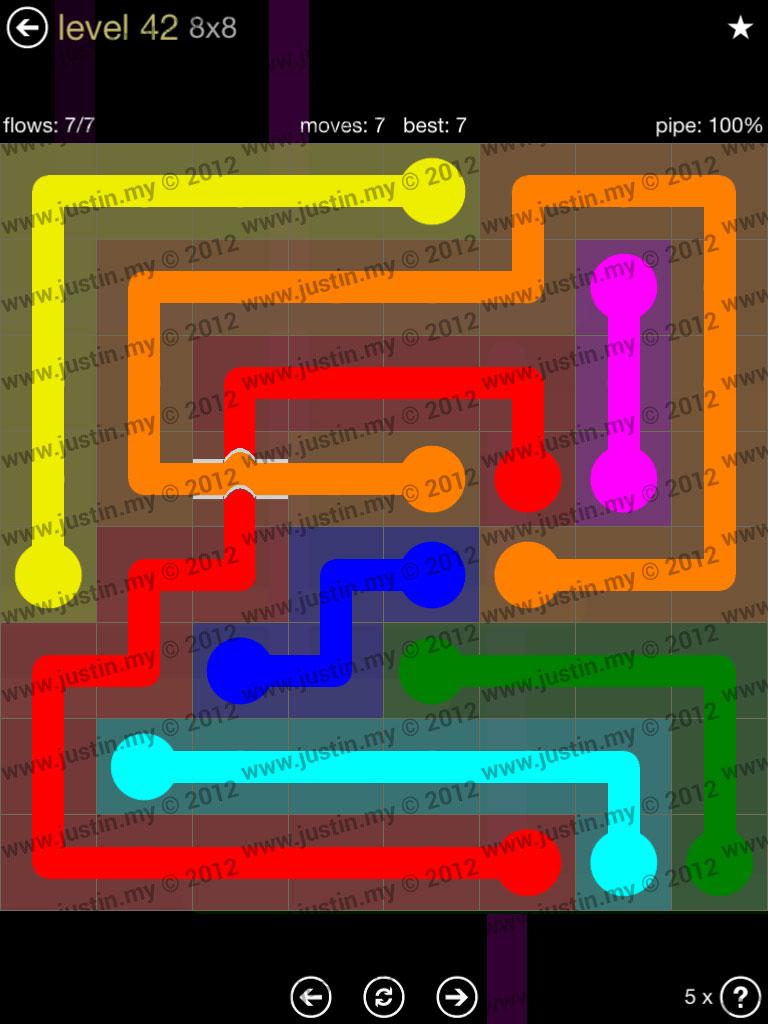 Flow Bridges 8x8 Mania Level 42