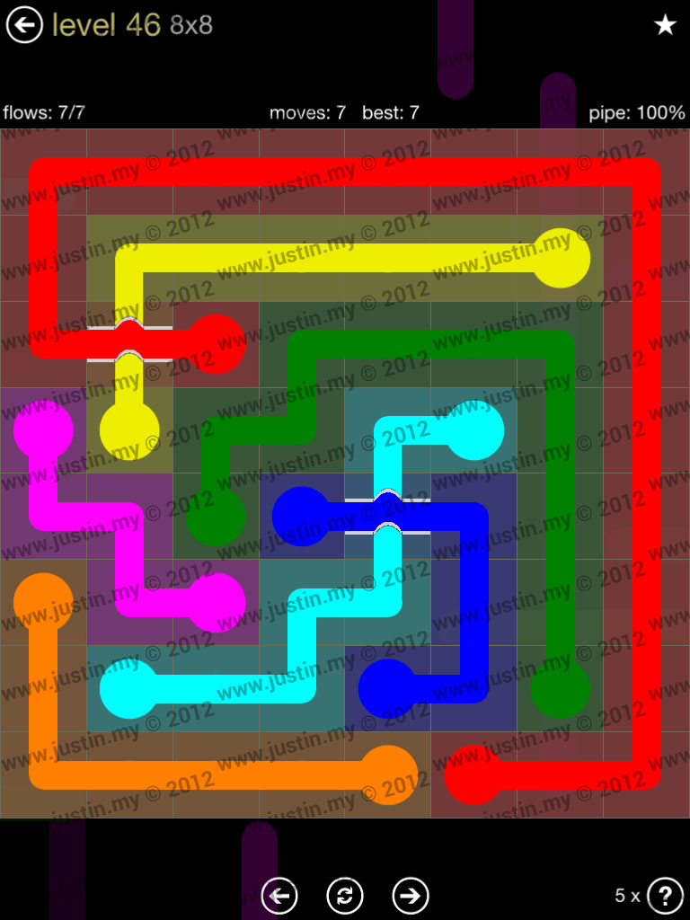 Flow Bridges 8x8 Mania Level 46