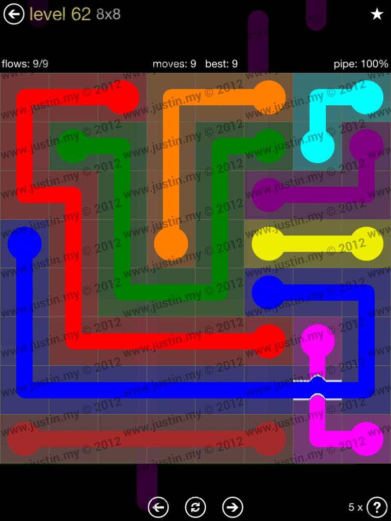 Flow Bridges 8x8 Mania Level 62