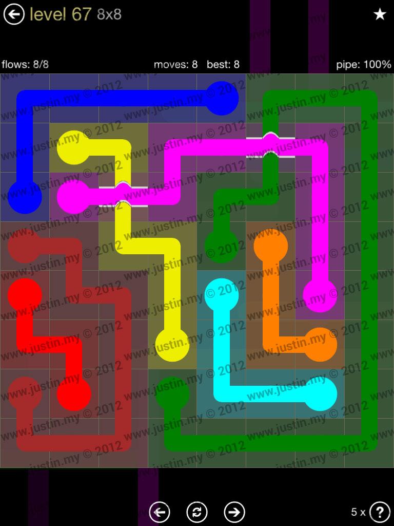 Flow Bridges 8x8 Mania Level 67
