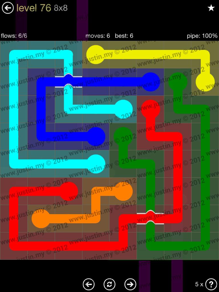 Flow Bridges 8x8 Mania Level 76