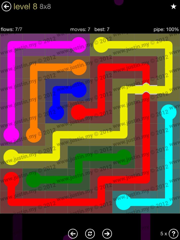 Flow Bridges 8x8 Mania Level 8