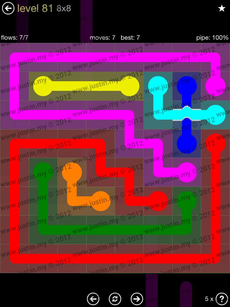 Flow Bridges 8x8 Mania Level 81