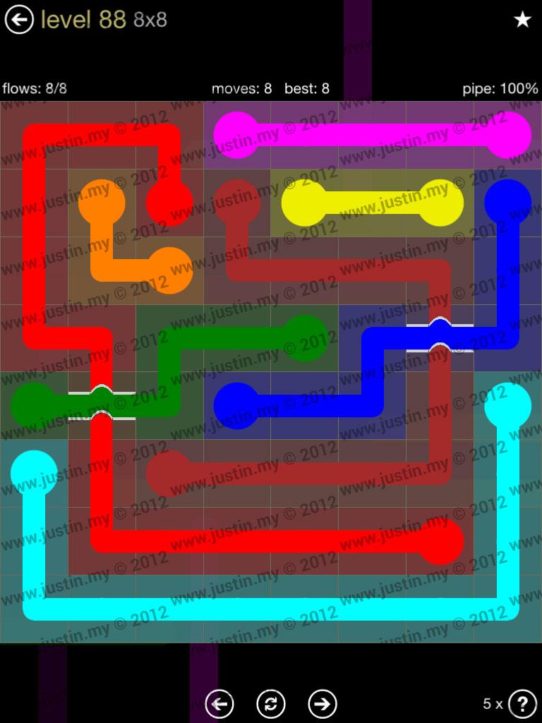 Flow Bridges 8x8 Mania Level 88
