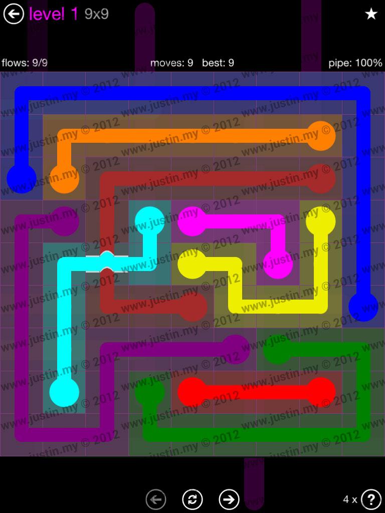 Flow Bridges 9x9 Mania Level 1