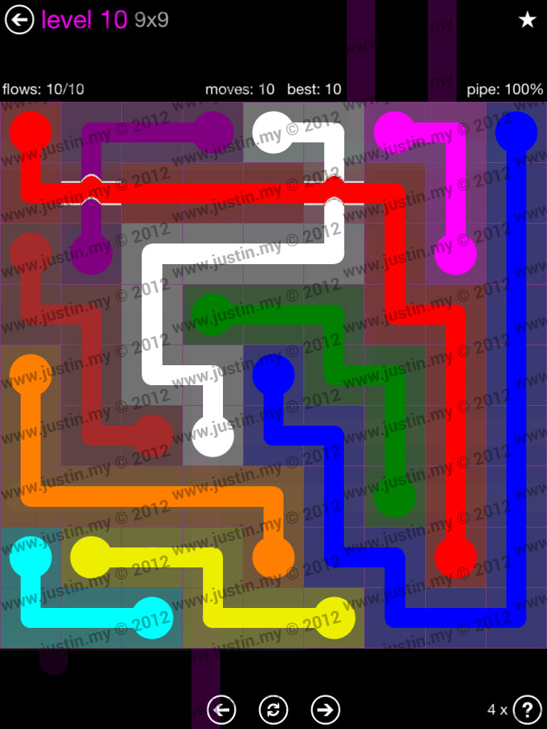 Flow Bridges 9x9 Mania Level 10