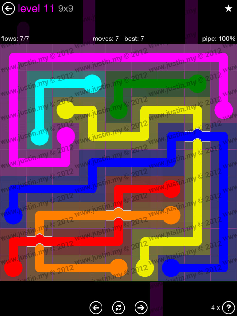 Flow Bridges 9x9 Mania Level 11