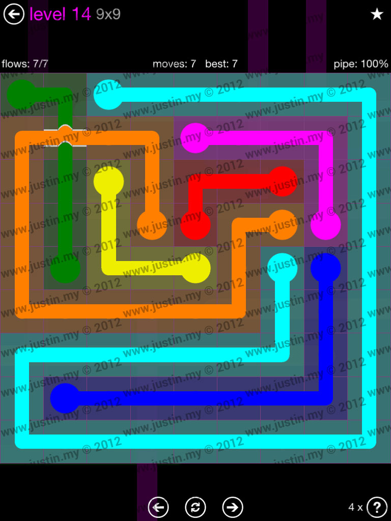 Flow Bridges 9x9 Mania Level 14