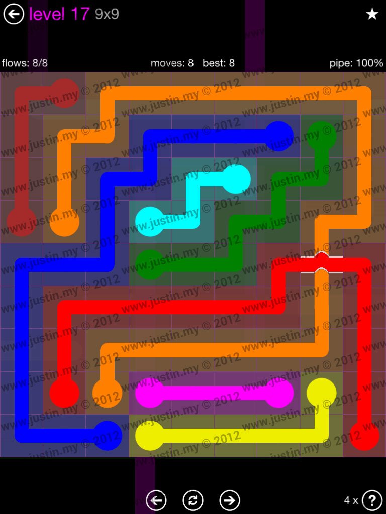 Flow Bridges 9x9 Mania Level 17