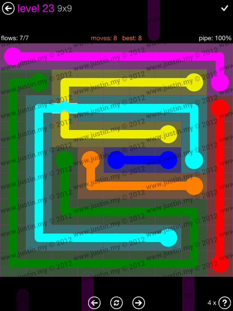 Flow Bridges 9x9 Mania Level 23