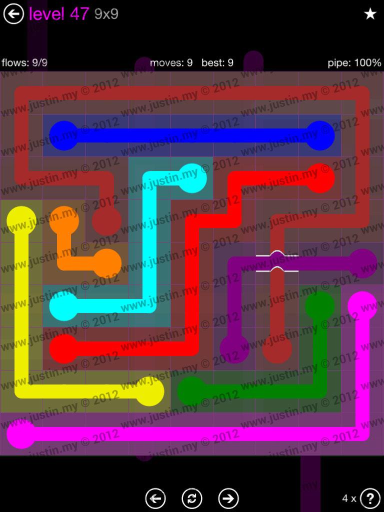 Flow Bridges 9x9 Mania Level 47