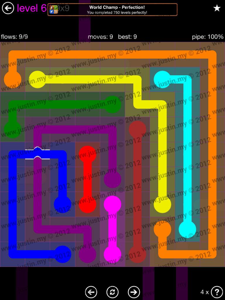 Flow Bridges 9x9 Mania Level 61