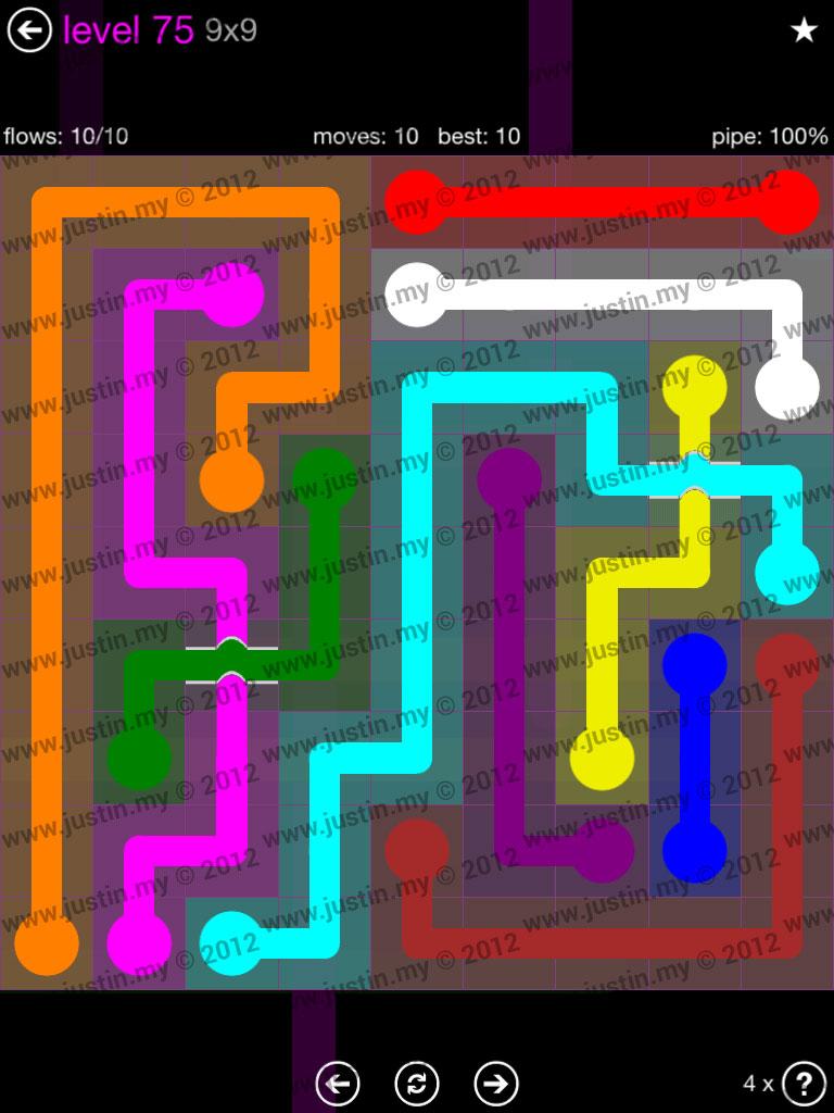 Flow Bridges 9x9 Mania Level 75
