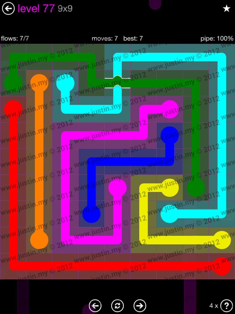 Flow Bridges 9x9 Mania Level 77