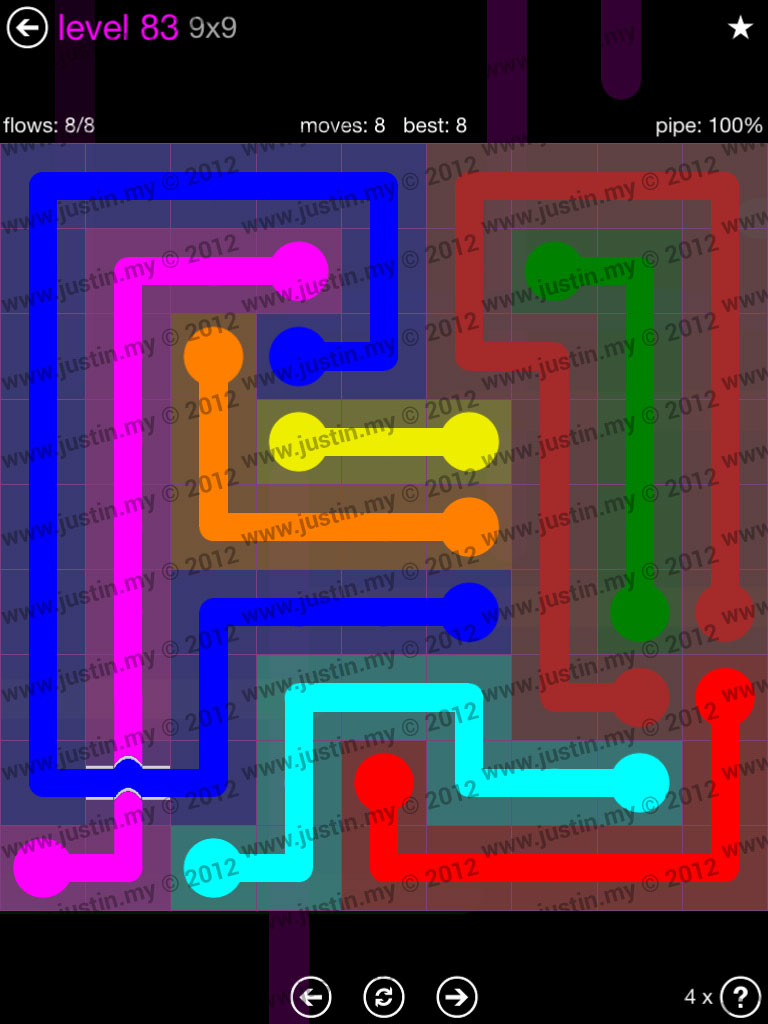 Flow Bridges 9x9 Mania Level 83