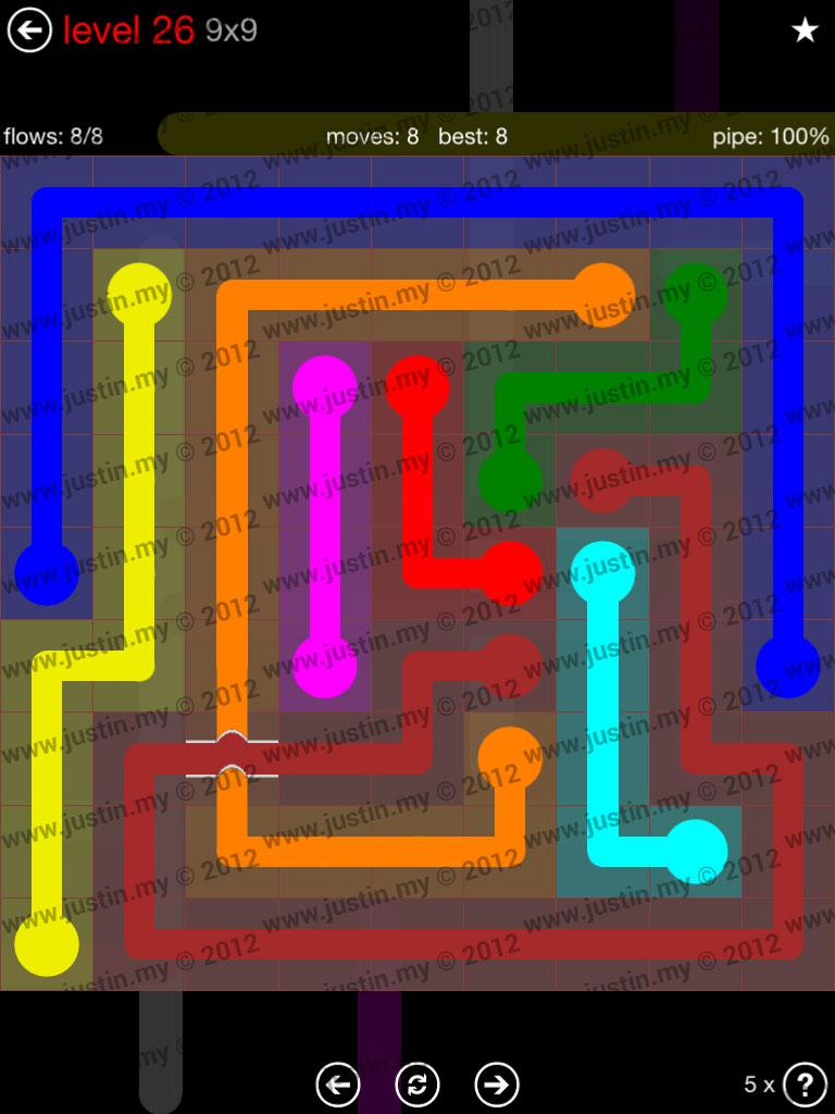 Flow Bridges 9x9 Level 26