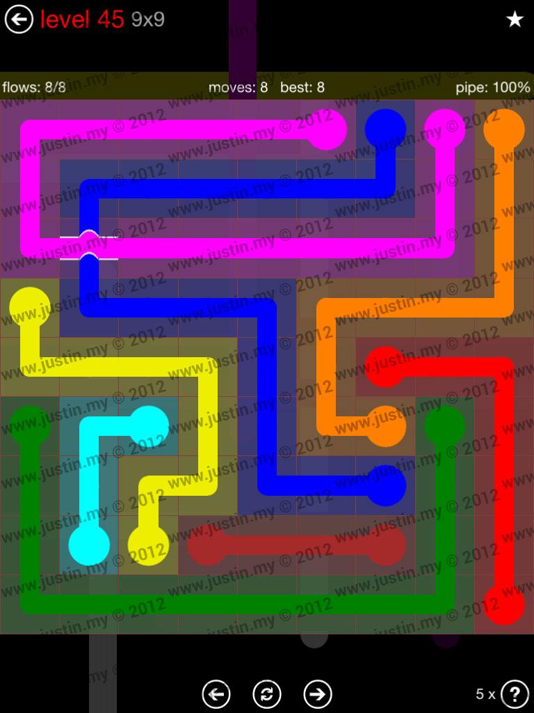 Flow Bridges 9x9 Level 45