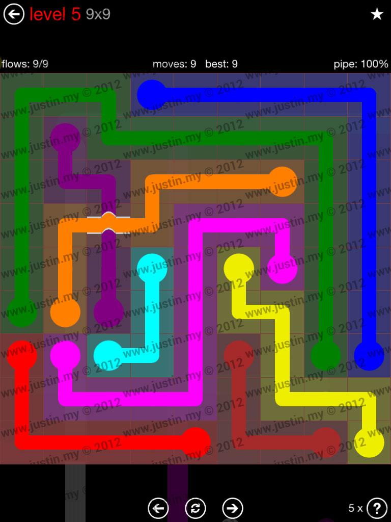 Flow Bridges 9x9 Level 5