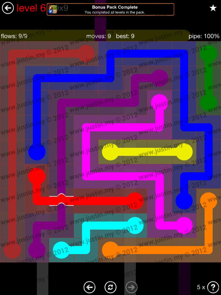 Flow Bridges 9x9 Level 60