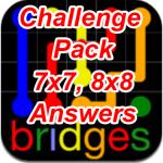 Flow Bridges Challenge Pack 7×7 8×8 Answers