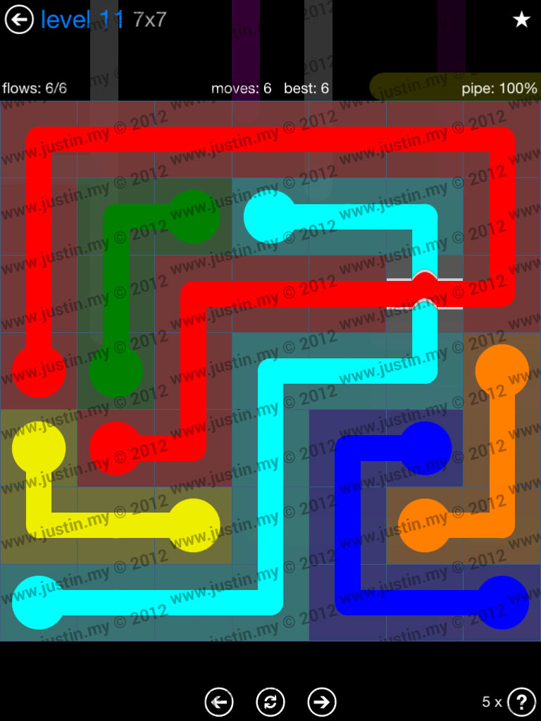 Flow Bridges 7x7 Level 11