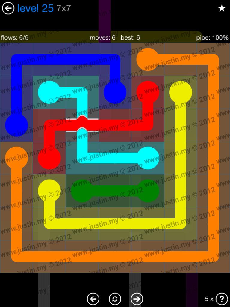 Flow Bridges 7x7 Level 25