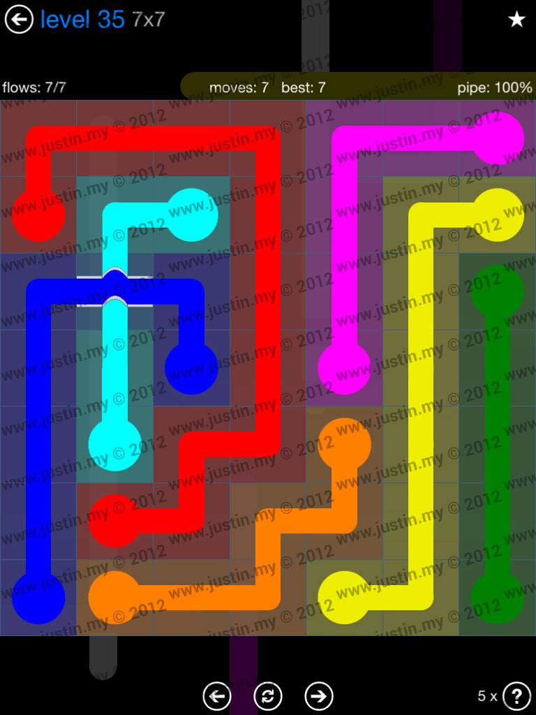 Flow Bridges 7x7 Level 35