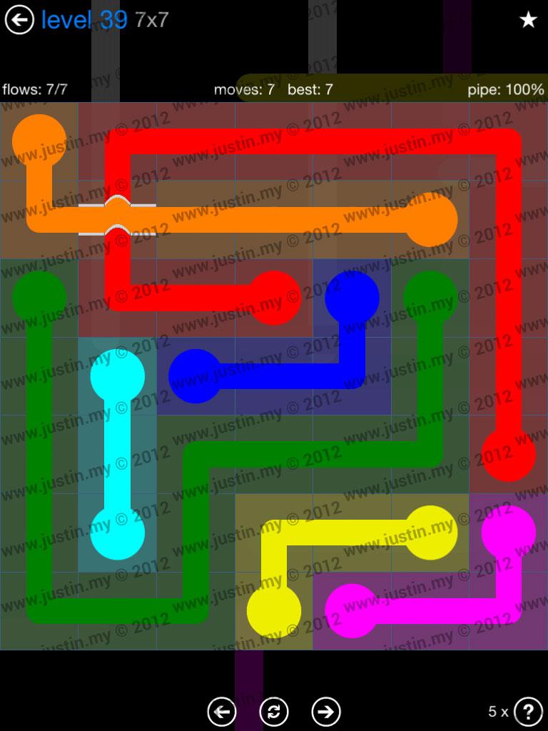 Flow Bridges 7x7 Level 39