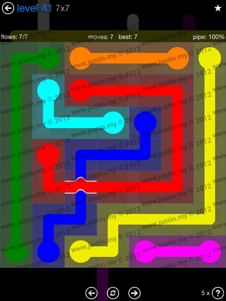 Flow Bridges 7x7 Level 41