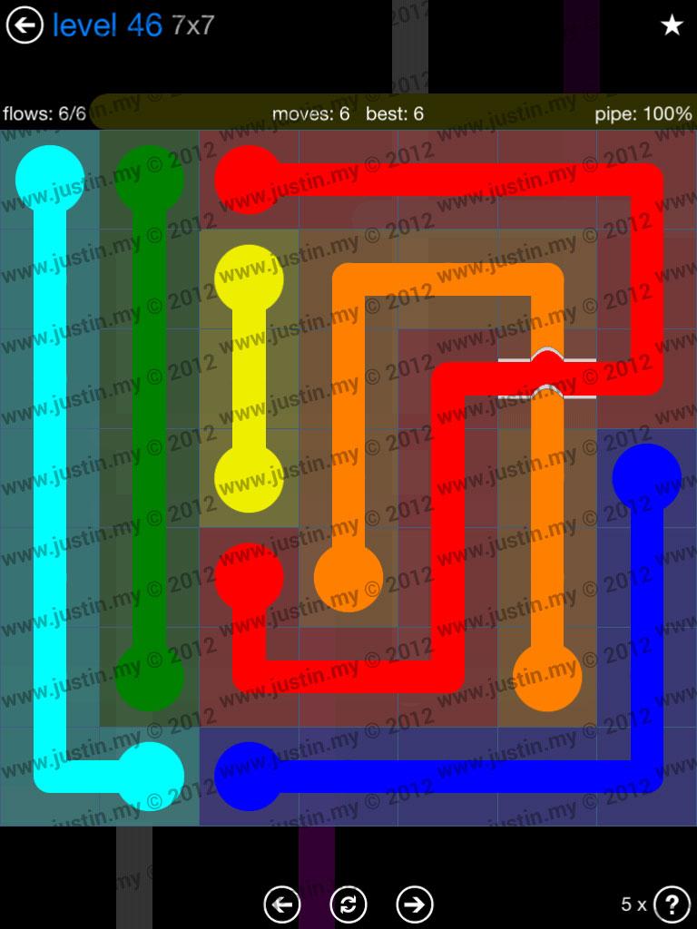 Flow Bridges 7x7 Level 46