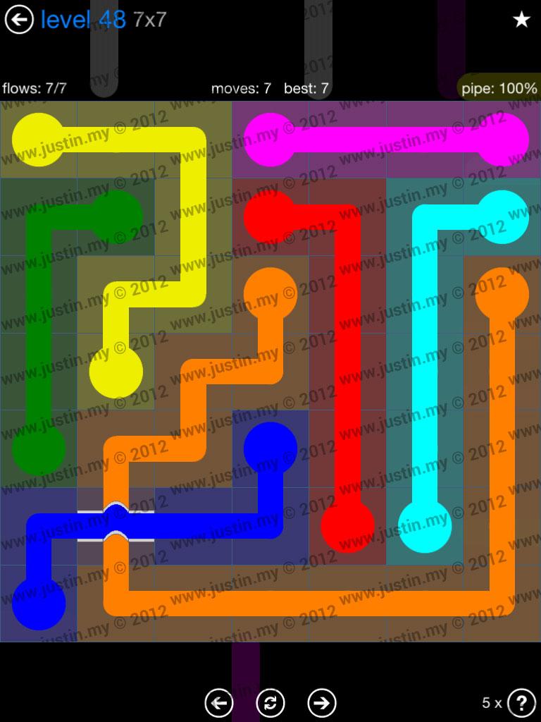 Flow Bridges 7x7 Level 48