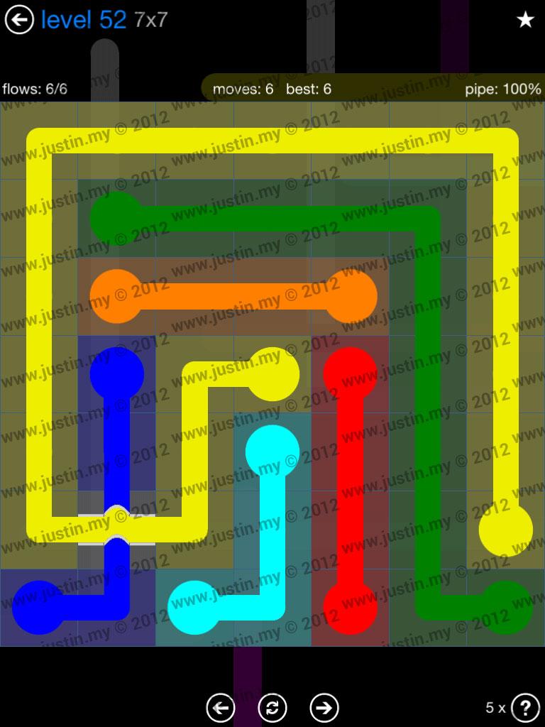 Flow Bridges 7x7 Level 52