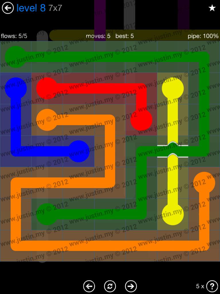 Flow Bridges 7x7 Level 8