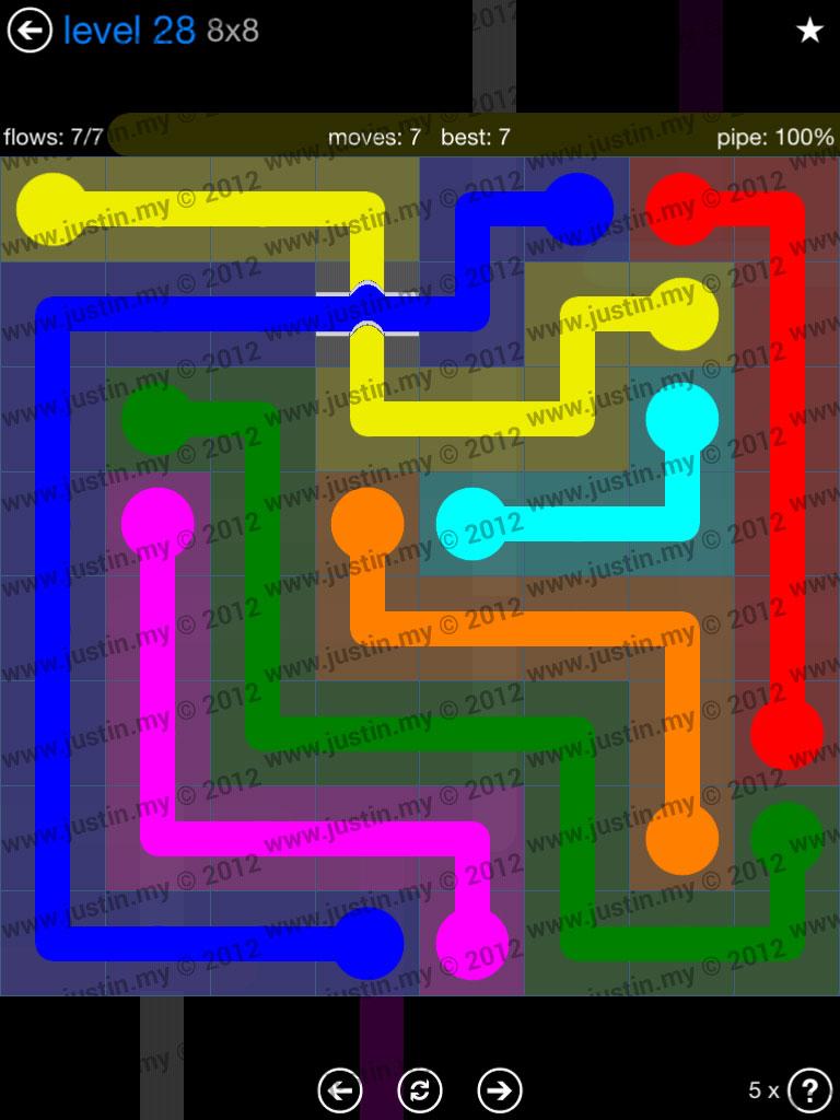 Flow Bridges 8x8 Level 28
