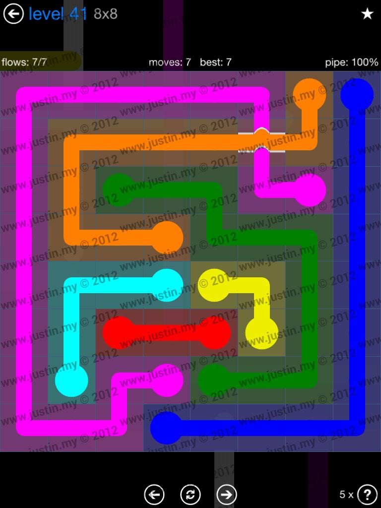 Flow Bridges 8x8 Level 41