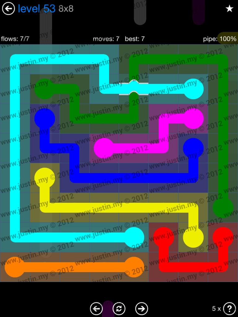 Flow Bridges 8x8 Level 53