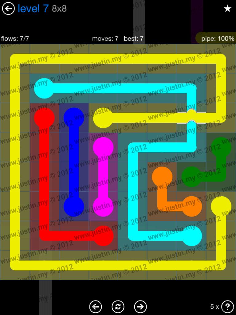 Flow Bridges 8x8 Level 7