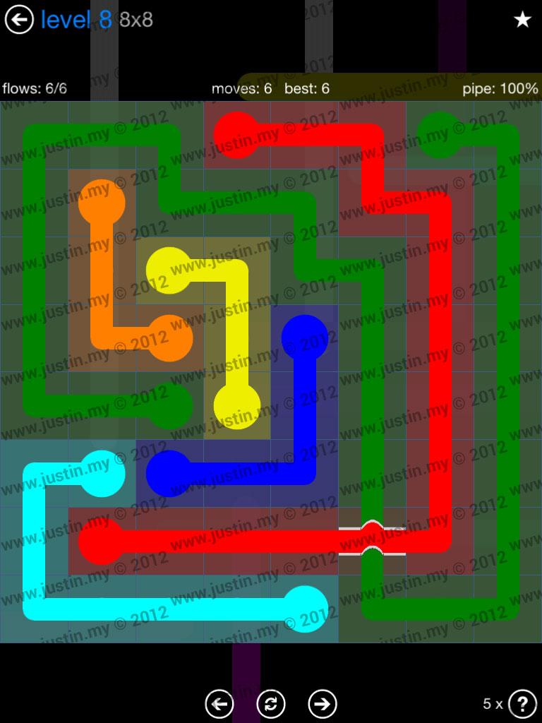 Flow Bridges 8x8 Level 8
