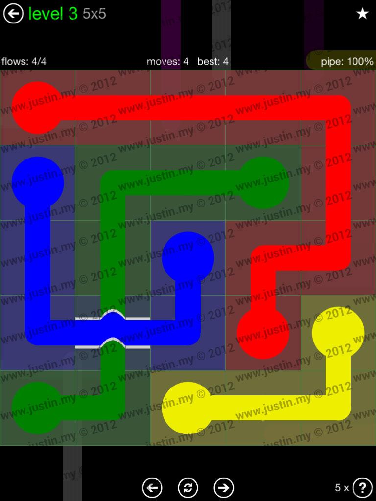 Flow Bridges 5x5 Level 3