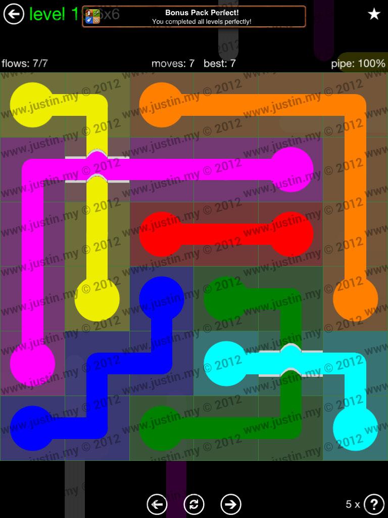 Flow Bridges 6x6 Level 19