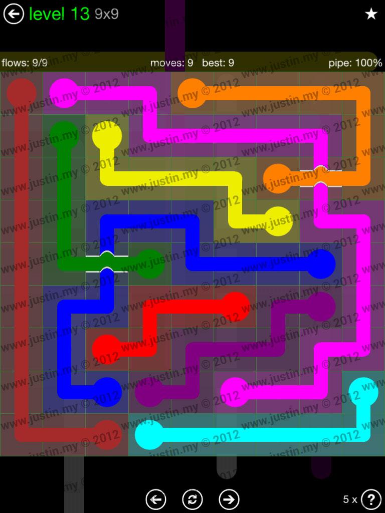 Flow Bridges 9x9 Level 13