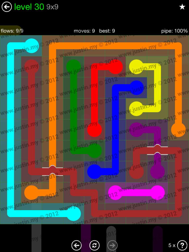 Flow Bridges 9x9 Level 30