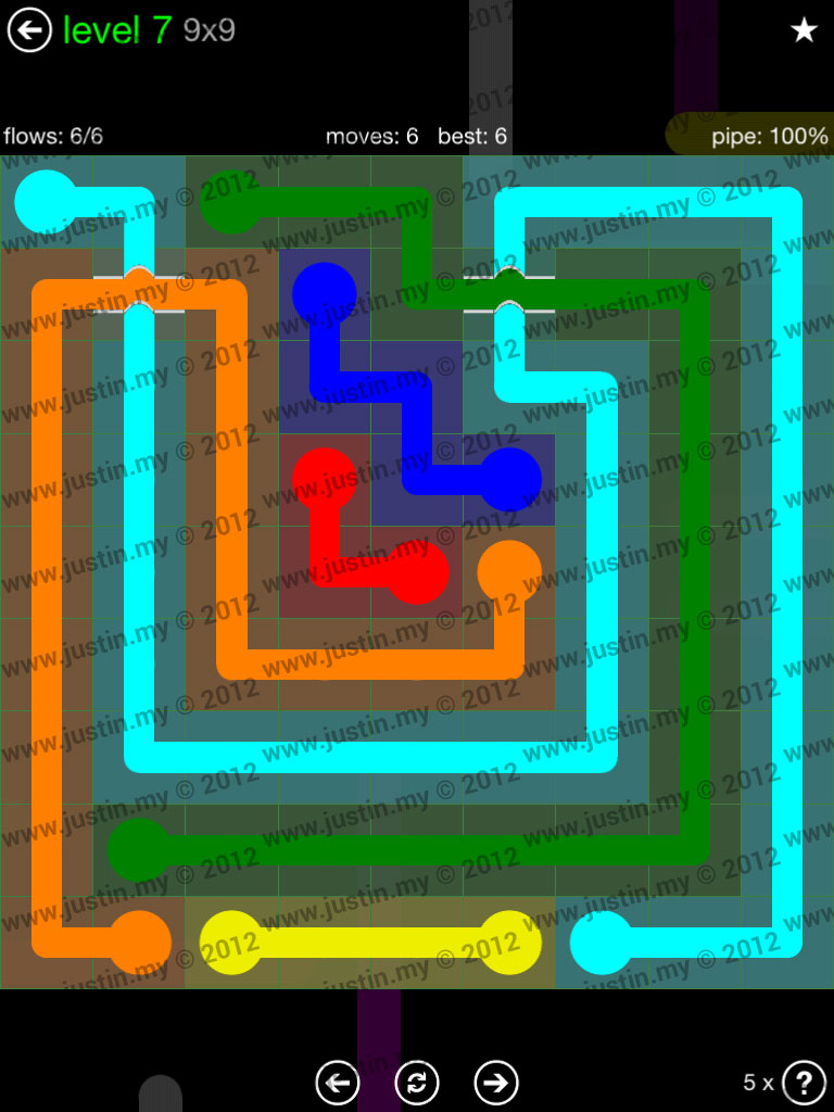 Flow Bridges 9x9 Level 7