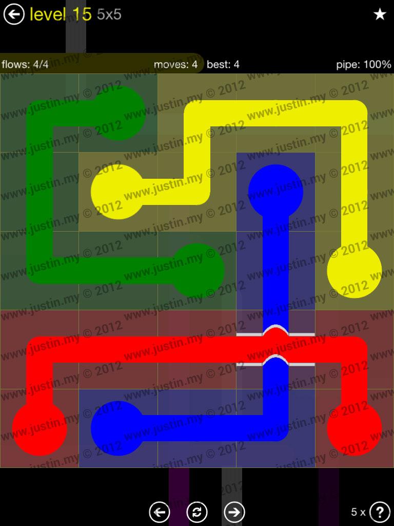Flow Bridges 5x5 Level 15